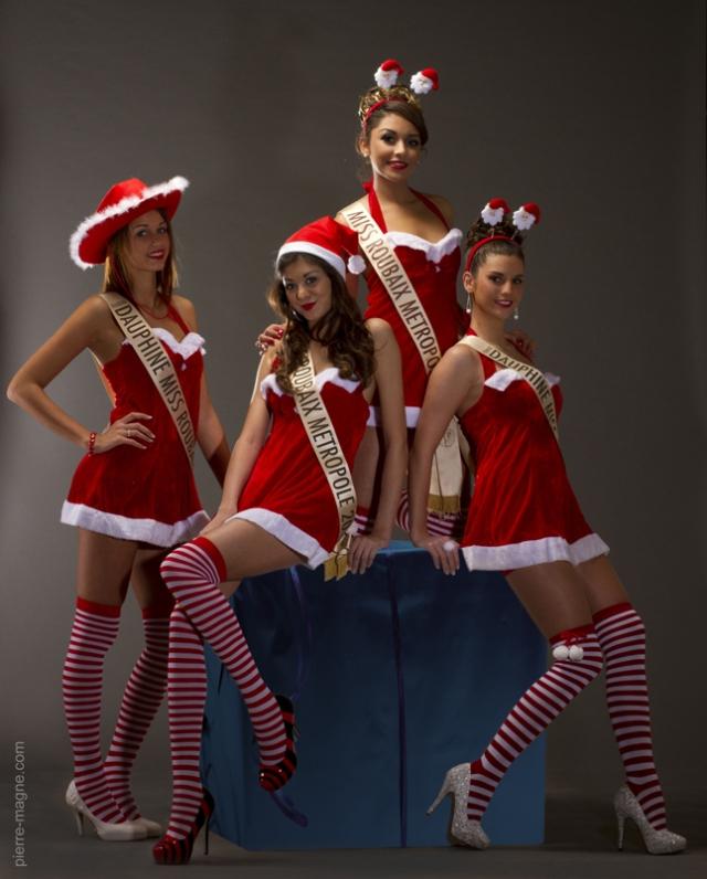 Les Miss Roubaix Métropole en Mère Noel !