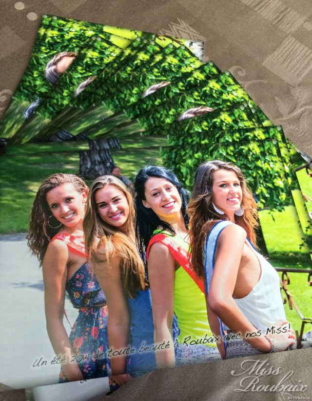 carte postale 2014 miss roubaix